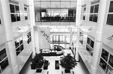 Atrium of 1 City Square Leeds