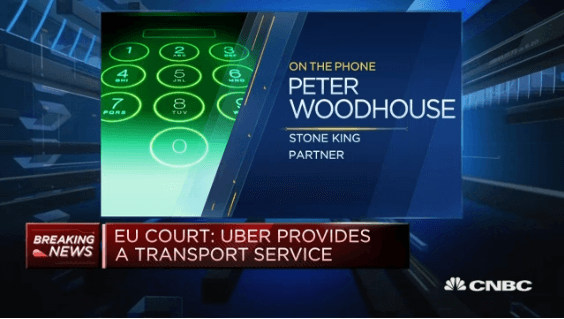 Video thumbnail for CNBC interviews Stone King Partner about EU's verdict on Uber