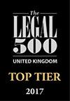 Legal 500 UK Top Tier 2017 Logo