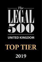 Legal 500 top tier firm 2019 logo