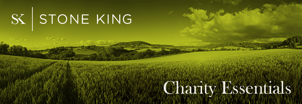 Charity essentials bulletin banner image of corn field