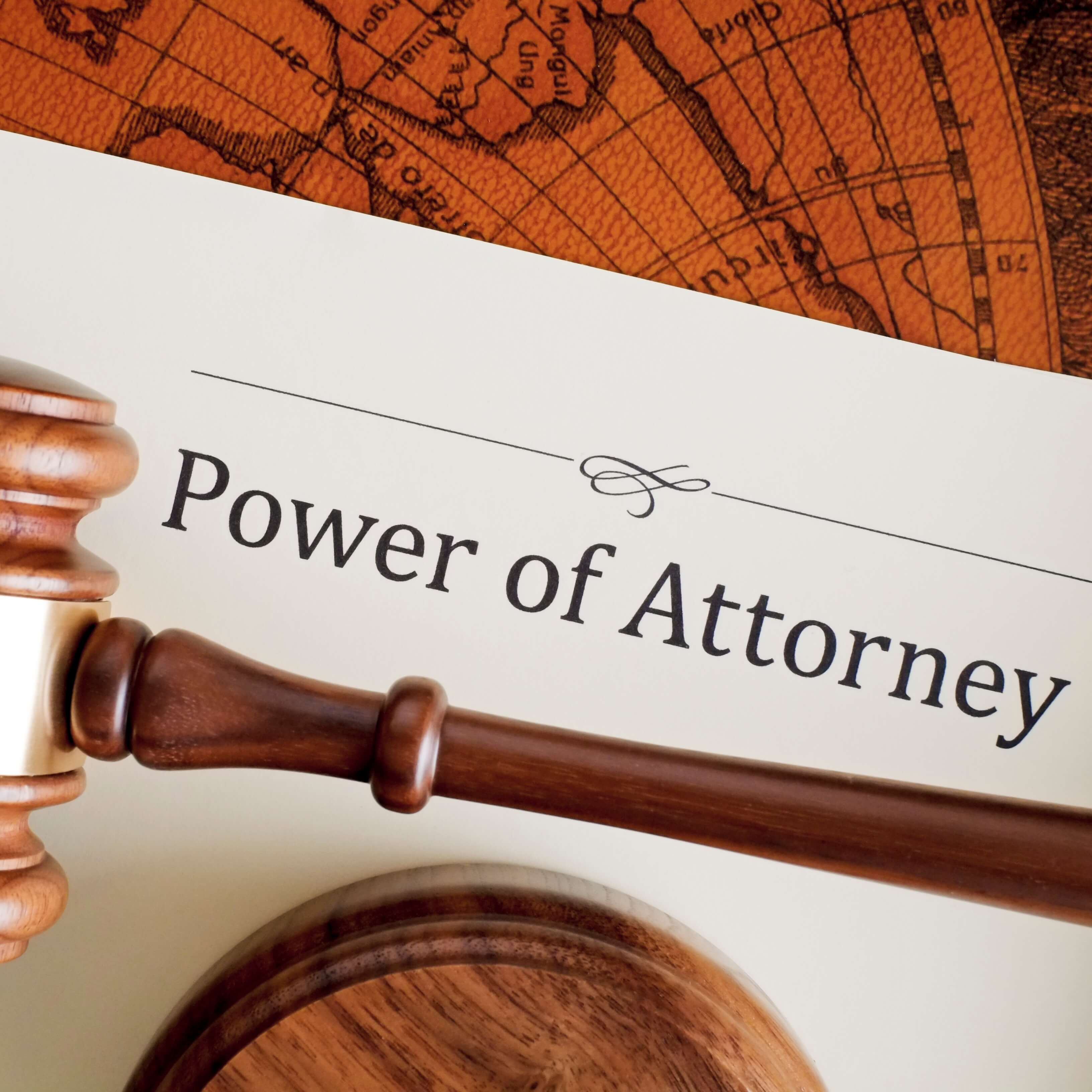 Power of Attorney on headed paper